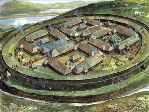 Ring fortresses are circular, and can measure up to 250 metres in diameter. They are thought to have been made in an attempt to build a defensive network similar to that introduced by the Anglo Saxons. Pictured is a ring fortress discovered on the Danish island of Zealand
