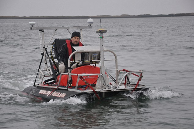 Dr Richard Bates of the earth sciences department at St Andrews University, searching for Doggerland, the underwater country dubbed 'Britain's Atlantis'