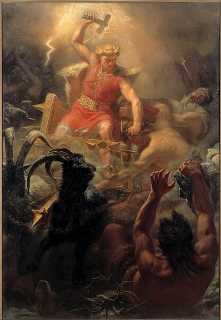 Thor's Fight with the Giants by Mårten Eskil Winge, 1872