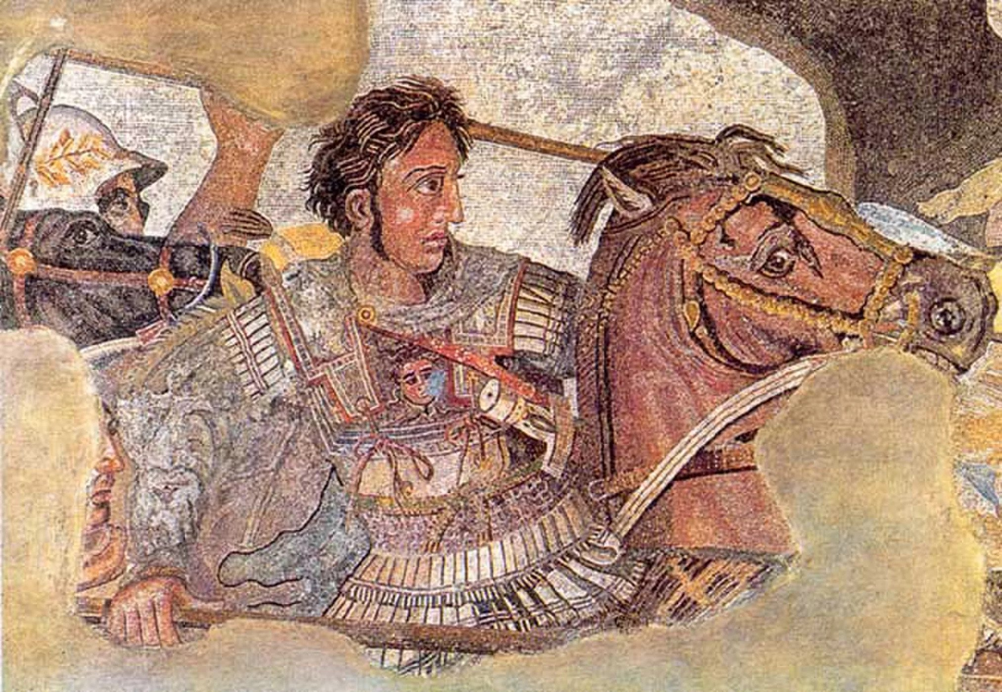 Detail from the Alexander mosaic. From the House of the Faun, Pompeii, c. 80 B.C.
