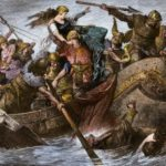 Vikings raid the English coastline in the 900s.