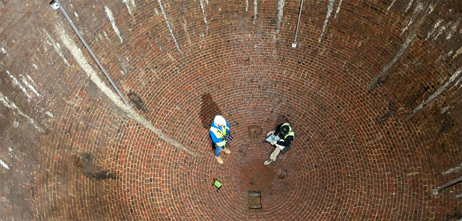 18th century Ice House re-discovered beneath the streets of Marylebone London