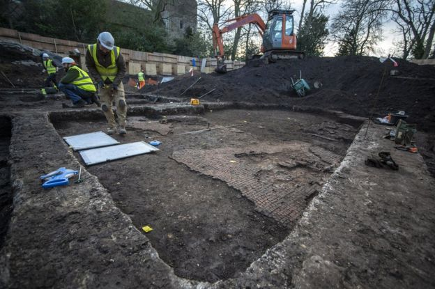 """The tessellated flooring found at the site suggests the occupants were """"well off"""", say archaeologists"""