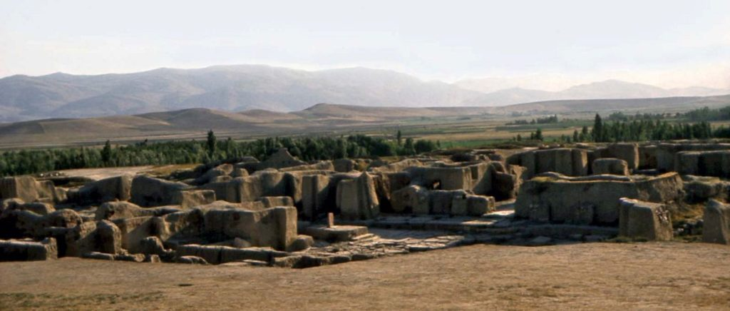 A view of the fortified citadel of Hasanlu Courtesy of the Penn Museum
