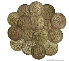 One of the discovered ancient coins.