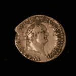 A coin found at the excavation site in Yorkshire. 'It has felt like a Richard III moment in terms of excitement', says DigVentures cofounder Lisa Westcott Wilkins.