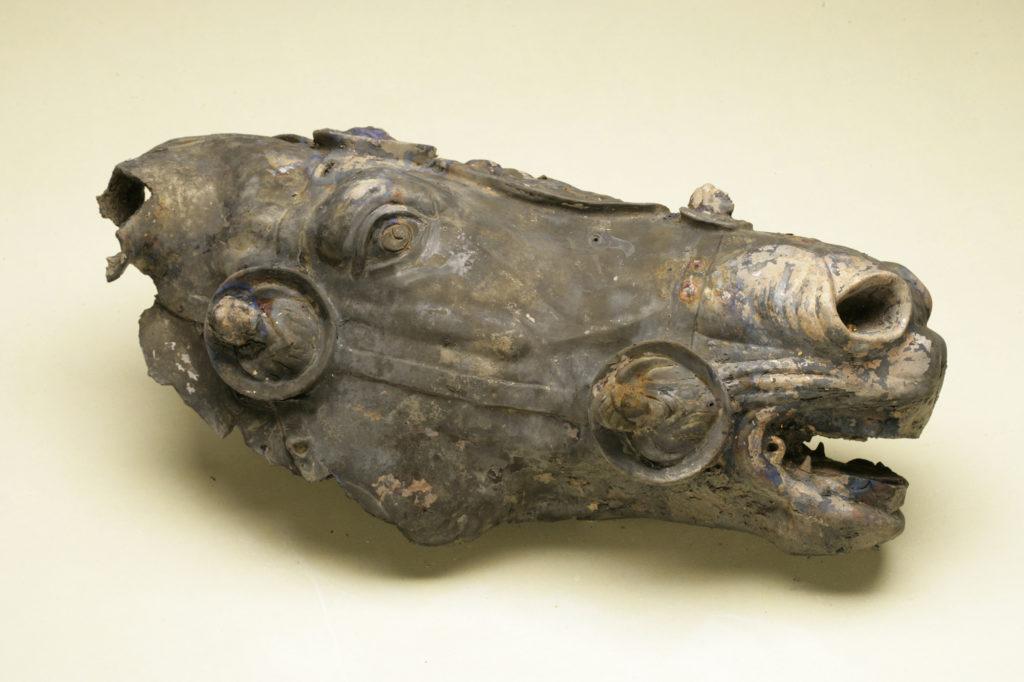 Roman horse's head pre-restoration