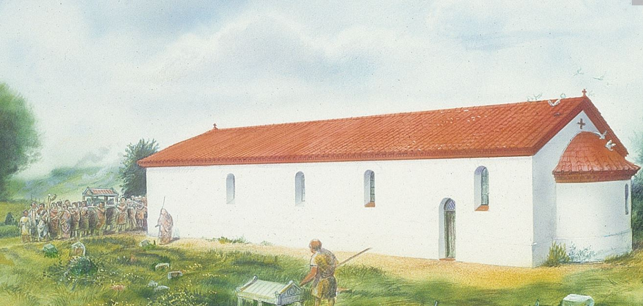 Froste Church, which was in close proximity to the burial ground.