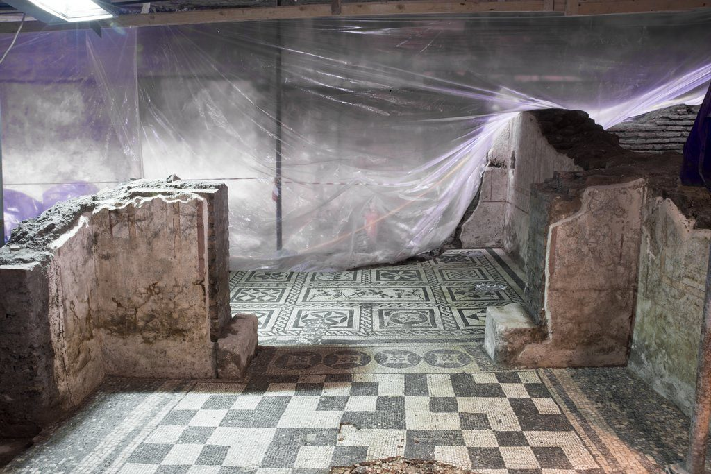 Archaeologists believe the richly decorated house belonged to the commander of a military complex that was found at the site two years ago.