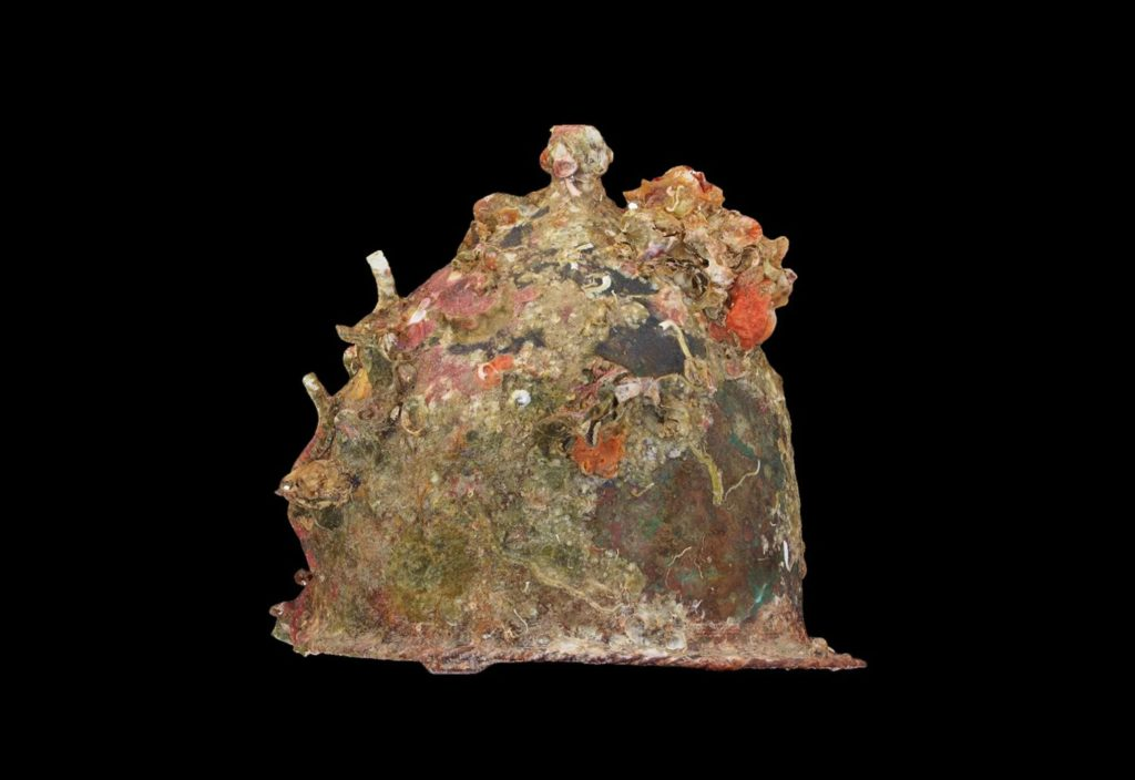 Archaeologists have found many helmets during the survey of the Rome-Carthage battle site. Here, a 3D model of one of of those helmets, created by William M. Murray.