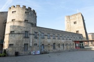 Oxford Castle, Oxfordshire – a Norman medieval castle that once housed the 17th-century rebel John Lilburne.