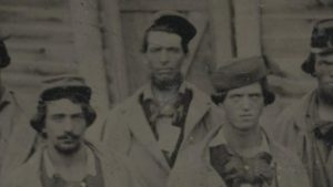 Photograph of Confederate prisoners of war at Camp Douglas.