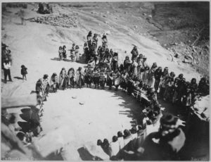 Hopi Women's Dance, 1879, Oraibi, Arizona.