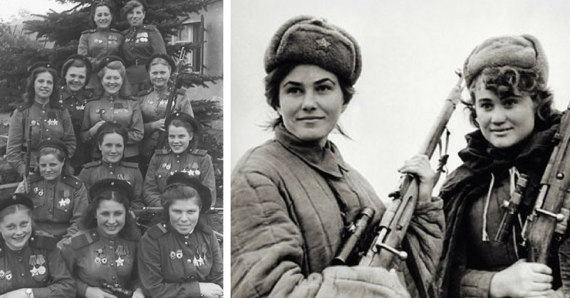 12 Russian Women Snipers Responsible for the Death of 775 German Soldiers During WW 2