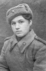 Klavdiya Kalugina, one of the youngest female Soviet snipers (age 17 at the start of her military service in 1943). She finished the war with 257 confirmed kills.
