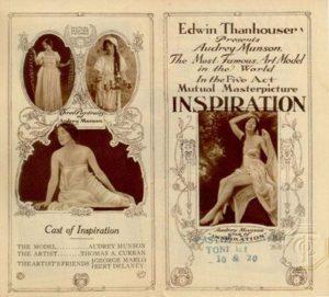 "Promotional brochure for ""Inspiration,"" 1915."
