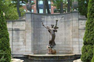 Memorial Fountain for Spencer Trask in Saratoga Springs