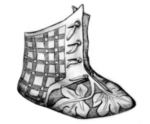 Artist's reconstruction of the infant bootie.