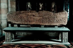The Govan Stones include a sarcophagus