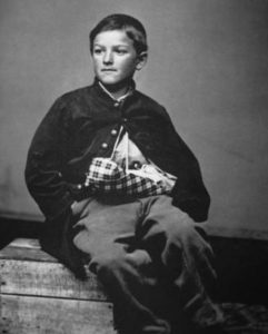 Edward (William) Black (1853–1872) was a drummer boy for the Union during the American Civil War. At twelve years old, his left hand and arm were shattered by an exploding shell. He is considered to be the youngest wounded soldier of the war.