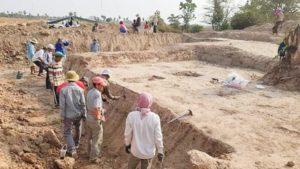 Six ancient Funan graves have been excavated in Prey Veng province. Cambotrips