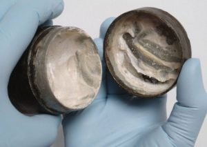 Archaeologists assume that the white cream, found in a well-sealed cylindrical tub, may either be a face cream or a face paint, and the canister was probably buried in a ritual offering, they claim.