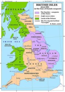 Map of Britain in 886