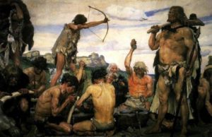 Imaginative depiction of the Stone Age