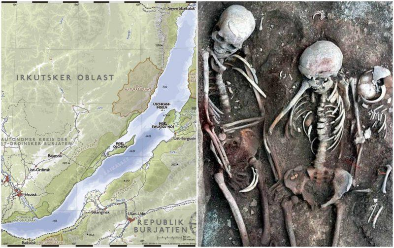 Two Ancient Lovers Skeletons holding hands unearthed at 3500-year-old Siberian burial site