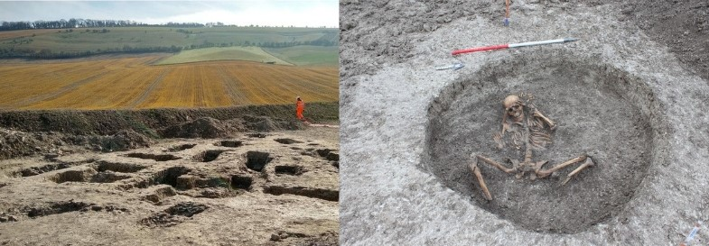 Oxfordshire water pipe work uncovers 3,000-year-old Iron Age Skeletons and Roman artefacts in England