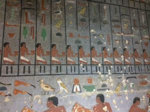 painting wall of the tomb