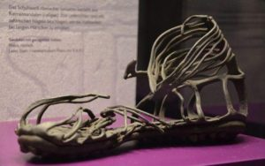Caliga, Roman soldier's sandal from the 1st Century AD, Landesmuseum, Mainz.