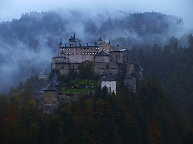 This medieval castle of Hohenwerfen has served the rulers of Salzburg as a fortification and a residence for hundreds of years