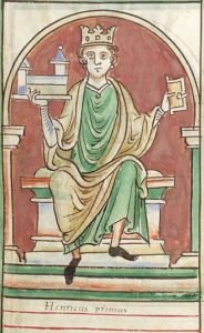 Henry I of England here shown enthroned,