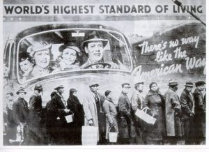 African American men, women and children line up at a relief station in Louisville, Kentucky. 1937 Louisville, Kentucky.