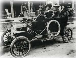 Madam Walker and several friends in her automobile