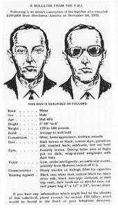 FBI wanted poster of D. B. Cooper