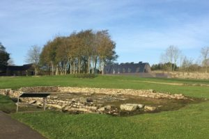 Artists impression of how the Vindolanda archaeology centre would look