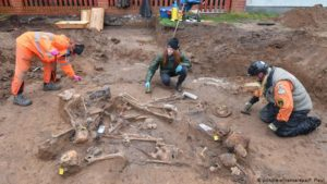 Both professionals and amateurs have helped excavate the remains in Klessin