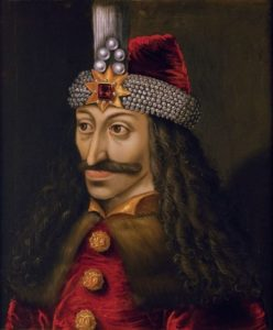 Ambras Castle portrait of Vlad III (c. 1560), reputedly a copy of an original made during his lifetime.