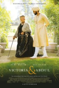 "Poster for the movie ""Victoria & Abdul."""