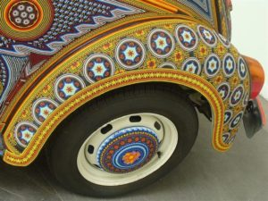 View of a decorated fender.