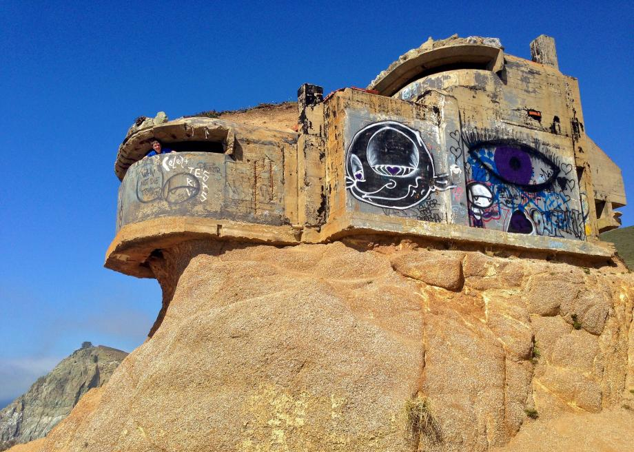 The Devil's Slide Bunker in California Teeters on the Edge
