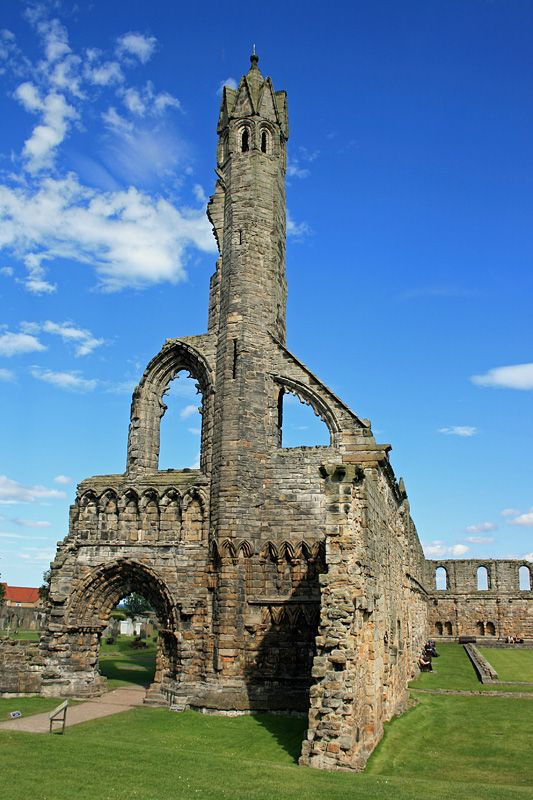The Cathedral of St Andrew, St. Andrews, Fife, is a ruined Roman Catholic cathedral built in 1158.