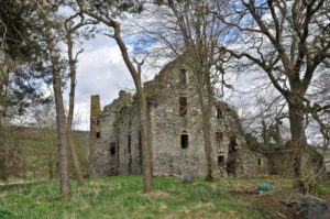 The ruins of Drochil Castle, located south of West Linton, Scotland  photo credit Paul Hermans