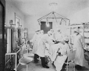 Operating room at the Brinkley Hospital