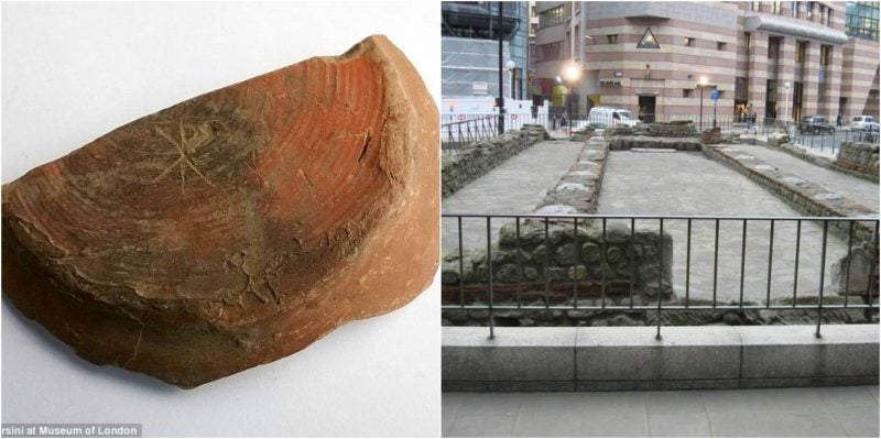 Rare Roman Pottery with 'Christ' Symbol Found in London