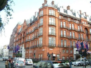 Claridge's Hotel, a place that might or might not have been partly in Yugoslavia.