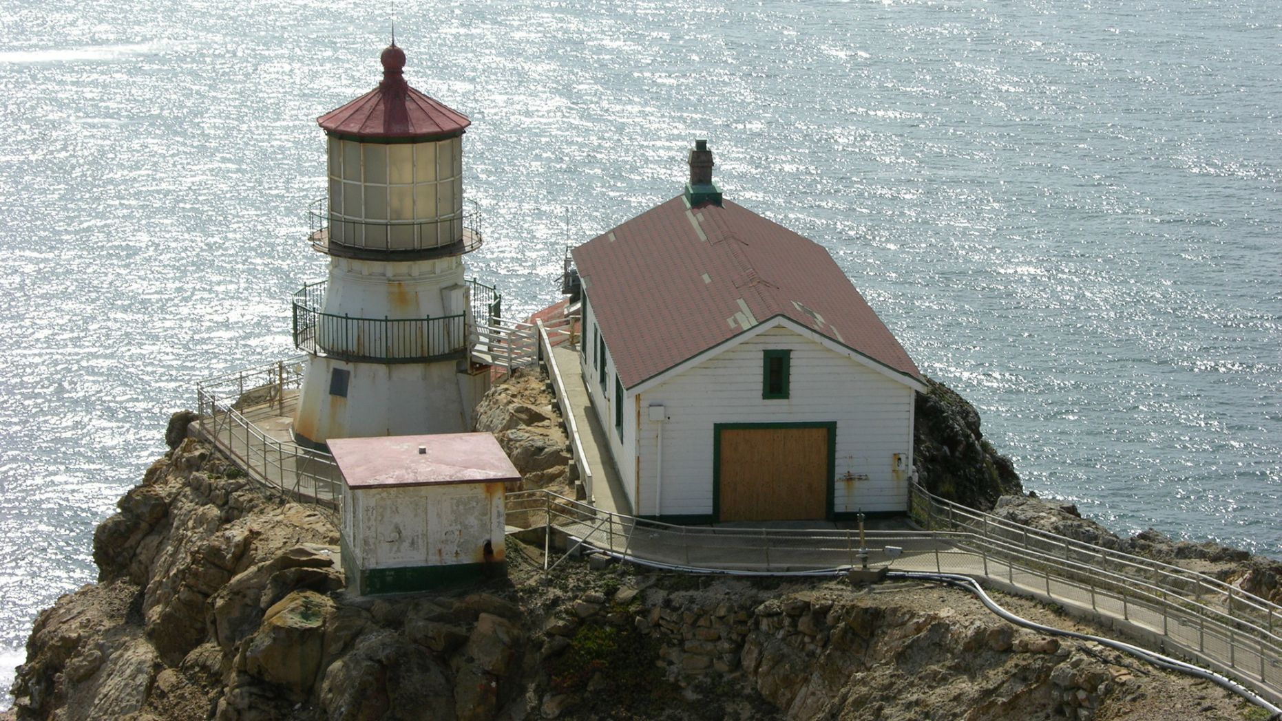Construction workers found a time capsule hidden behind a wooden plank inside a wall of the Point Reyes National Lighthouse in California