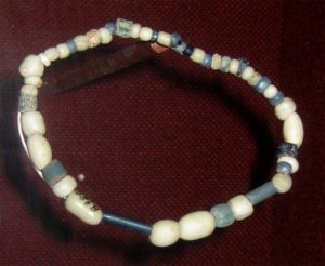 Trade beads found at a Wichita village site, c. 1740, collection of the Oklahoma History Center.